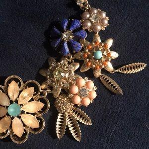 Banana Republic enamel cluster statement necklace